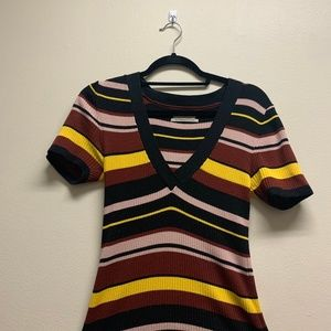 Urban Outfitters Striped V Neck
